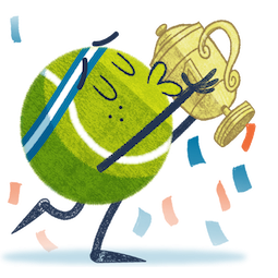Ace la star du tennis Facebook sticker #5