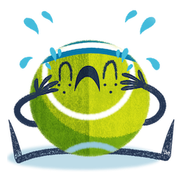 Ace la star du tennis Facebook sticker #7