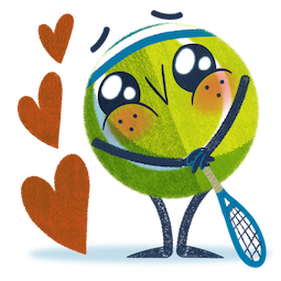 Ace la star du tennis Facebook sticker #8