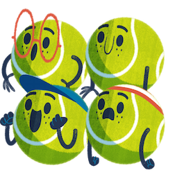 Sticker de Facebook / Messenger Ace la star du tennis #9