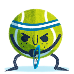 Ace la star du tennis Facebook sticker #10