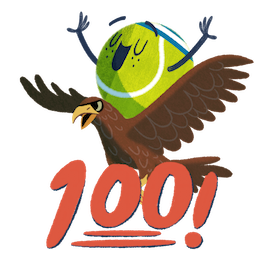 Ace la star du tennis Facebook sticker #12