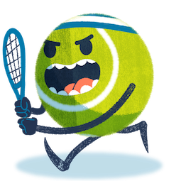 Ace la star du tennis Facebook sticker #13