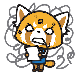 Aggretsuko Facebook sticker #3