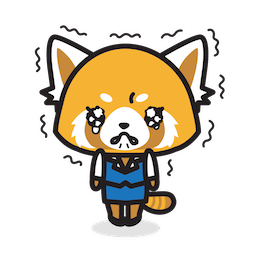 Facebook sticker Aggretsuko 6