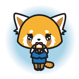 Aggretsuko Facebook sticker #11