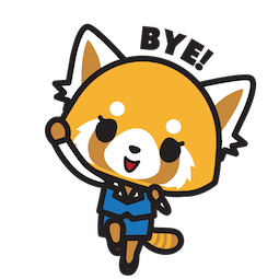 Aggretsuko Facebook sticker #15