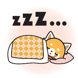 Facebook / Messenger Aggretsuko sticker #16