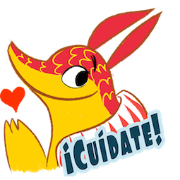 Sticker de Facebook / Messenger Amigos Alebrijes #9