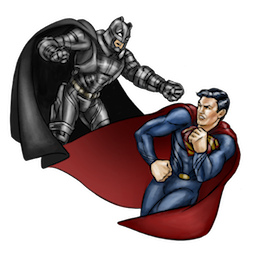 Batman V Superman Facebook sticker #10