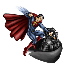 Batman V Superman Facebook sticker #15