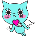 Facebook Stickers Blue Cat