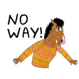BoJack Horseman Facebook sticker #8