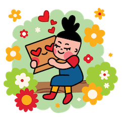 Box Girl Facebook sticker #1