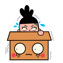 Facebook sticker Box Girl 13