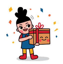 Box Girl Facebook sticker #19