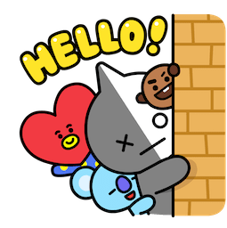 BT21 – Unwiderstehlich charmant Facebook sticker #12
