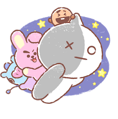Facebook BT21 Best Friends Forever stickers