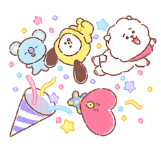 Amigos inseparables de BT21 Facebook sticker #3