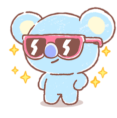 BT21 Best Friends Forever Facebook sticker #4