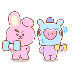 Amigos inseparables de BT21 Facebook sticker #6