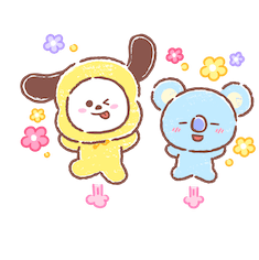 Amigos inseparables de BT21 Facebook sticker #8