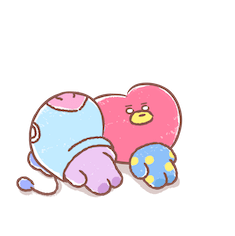 Amigos inseparables de BT21 Facebook sticker #12