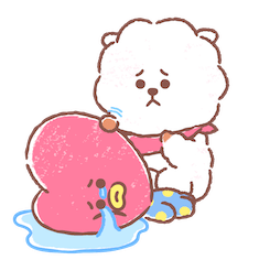 Amigos inseparables de BT21 Facebook sticker #14