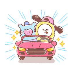 Amigos inseparables de BT21 Facebook sticker #20