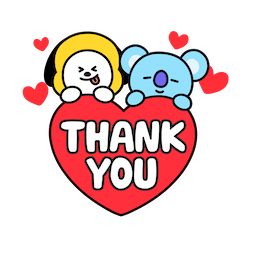 BT21 Love and Peace Facebook sticker #2