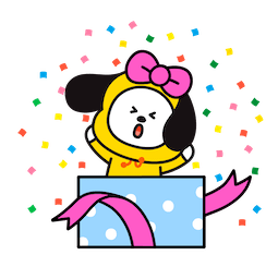 BT21 Love and Peace Facebook sticker #3