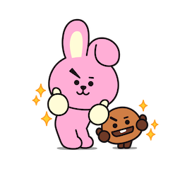 BT21 Love and Peace Facebook sticker #4