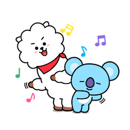 BT21 Love and Peace Facebook sticker #7