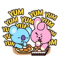 BT21 Love and Peace Facebook sticker #9