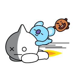 BT21 Love and Peace Facebook sticker #11