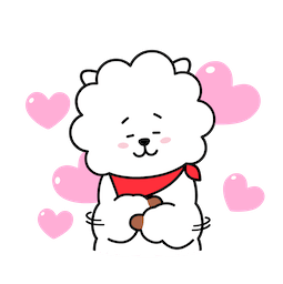 BT21 Love and Peace Facebook sticker #12