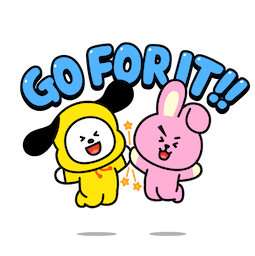 BT21 Love and Peace Facebook sticker #16