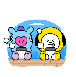 BT21 Love and Peace Facebook sticker #17