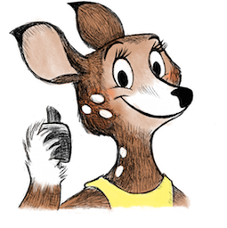 Dearest Deer Facebook sticker #3
