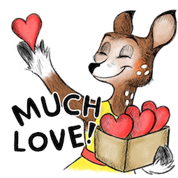 Dearest Deer Facebook sticker #16