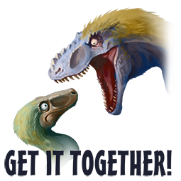 Downer Dinos Facebook sticker #10
