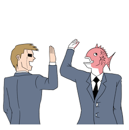 Business Fish im Alltag Facebook sticker #10