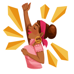 Fearless and Fabulous Facebook sticker #10