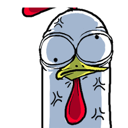 Fiery Chicken Bro Facebook sticker #16