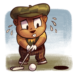 Gopher on the Green Facebook sticker #12