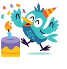 Facebook Happy Birthday stickers