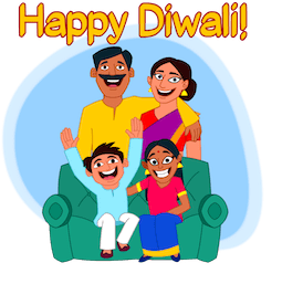 Facebook Happy Diwali stickers