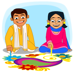Joyeux Diwali Facebook sticker #6
