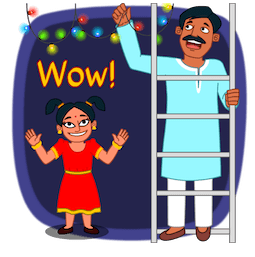 Joyeux Diwali Facebook sticker #7
