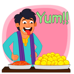 Joyeux Diwali Facebook sticker #22